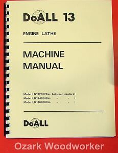 Doall romi 13 Inch Metal Lathe Operating Parts Manual 0278