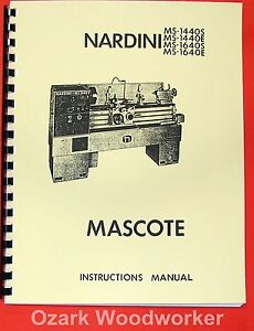 Nardini Ms 1440 1640 S e Mascote Lathe Part Manual 0483