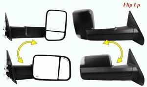 Towing Mirrors Power Heated For 2002 2008 Dodge Ram Pickup Tow Side Mirror