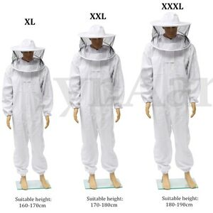 Pro Beekeeping Protective Equipment Veil Bee Keeping Full Body Suit Hat Smock