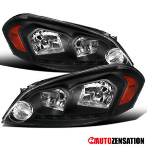 2006 2007 Chevy Monte Carlo 2006 2013 Impala Black Clear Headlights Smd Led Lamp