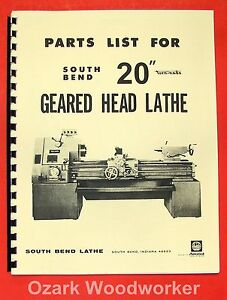 South Bend 20 Turn nado Gear Lathe Parts Manual 0672