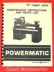 Powermaticlogan 12 Metal Lathe Parts Manual 0561