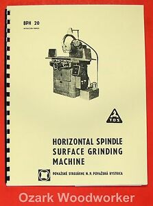 Tos Bph 20 10 X 25 Surface Grinder Operator s Parts Manual 0722