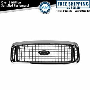 Grille Assembly Chrome Charcoal Gray For 00 04 Ford Excursion