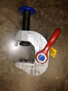Campbell Sac 6 Steel 6 Ton Wll Plate Lifting Clamp 0 3 Jaw Merrill Bros