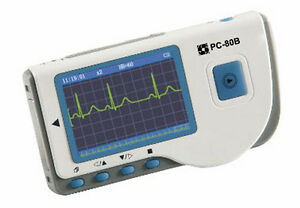 Pc 80b Handheld Ecg ekg Monitor Color Screen W Bluetooth Reusable Suction Cup