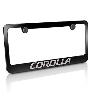 Toyota Corolla Black Metal License Plate Frame