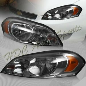 For 2006 2013 Chevy Impala 2006 2007 Monte Carlo Smoke Lens Headlights Lamps