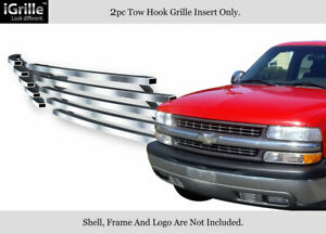 For 1999 2002 Silverado 1500 00 06 Tahoe Stainless Bumper Billet Grille