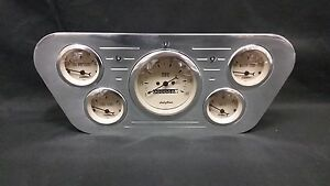 1953 1954 1955 Ford Truck 5 Gauge Billet Dash Cluster Set Insert Tan