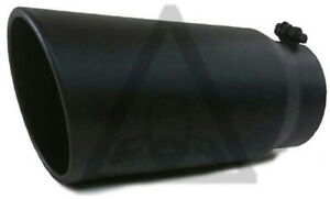 Black Stainless Steel Bolt On Exhaust Diesel Tip 5 Inlet 6 Outlet 15 Long