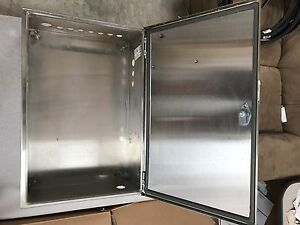 Hoffman Csd24168ss Wall mount Nema 4x Enclosure Stainless Steel Type 304