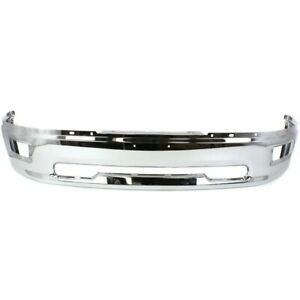 Front Bumper For 2009 2010 Dodge Ram 1500 W Rectangular Fog Light Holes Chrome