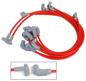 Msd Spark Plug Wires Spiral Core 8 5mm Red 90 Deg Sbc Chevy Small Block V8