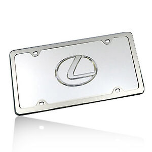 Lexus Logo Chrome Steel License Plate Kit