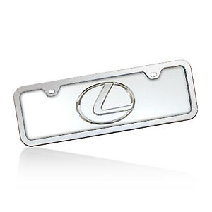 Lexus Logo Half Size Chrome Steel License Plate Kit