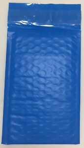 Blue Poly Bubble Padded Mailers Self Seal 4 X 7 250 Qty 000
