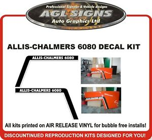 Allis chalmers 6080 Tractor Hood Decal Kit Reproductions