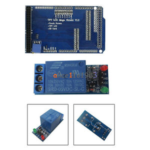 Touch Tft Lcd Expansion Board Adjustable Shield For Arduino 1 ch 5v Relay Module