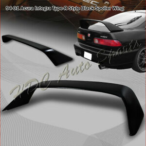 For Acura Integra Dc1 2 Door Type r Style Painted Black Rear Trunk Spoiler Wing