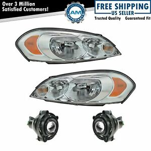 Headlight Fog Driving Light Lamp Kit Lh Rh Set Of 4 For Impala Monte Carlo New