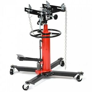 1 2 Ton Transmission Jack 2 Stage Hydraulic 1000 Lbs 360 For Auto Shop Car Lift