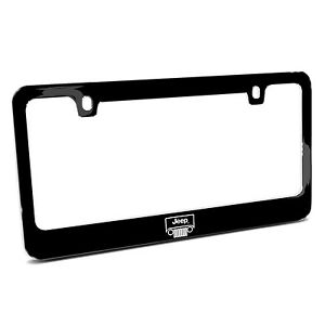 Jeep Grill Outline Black Metal License Plate Frame Made In Usa