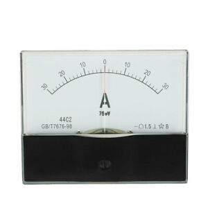 44c2 a Class 1 5 Accuracy Dc 0 30a Analog Panel Meter Ammeter Amperemeter