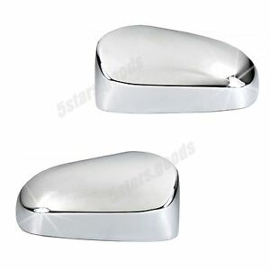 Chrome Door Side Mirror Molding Covers Trim For 2012 2018 Toyota Yaris Hatchback