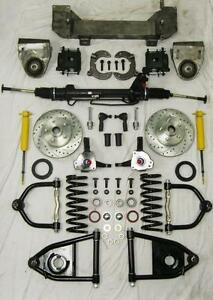1949 1954 Chevy Car Mustang Ii Bolt On Power Front End Suspension Kit Ifs Stock