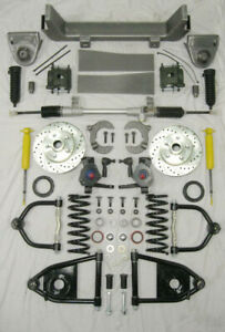 1953 1956 Ford F100 Mustang Ii Manual Front End Suspension Kit Ifs 2 Drop
