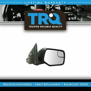Exterior Power Heated W Blind Spot Glass Mirror Black Rh Side For Ford New