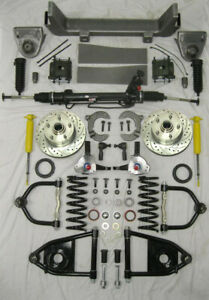 1953 1956 Ford F100 Mustang Ii Power Front End Suspension Kit Ifs Stock Height
