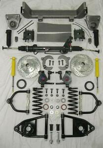 1953 1956 Ford F100 Mustang Ii Power Front End Suspension Kit Drop Slotted