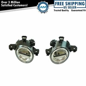 Clear Lens Led Fog Driving Light Pair For Maxima Altima Sentra Rogue M35 M45 G37