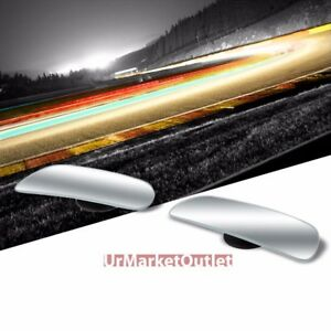 2x Rectangular Swivel Stick On Car Wide Angle Convex Rear Blind Spot Side Mirror