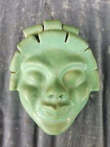 Whimsical Wpa Ash Can School Art Deco Stylized Ceramic Comedy Face Signed Torok