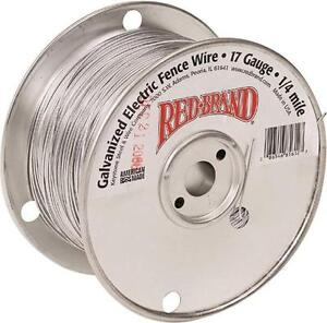 Red Brand 85612 17 Gauge 1 4 Mile Length Galvanized Electric Fence Wire 3407491