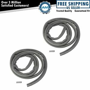 Front Door Rubber Weatherstrip Seal Lh Rh Pair For Dodge Ram Pickup Truck New