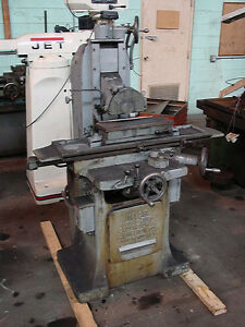 6 X 18 Gallmeyer Livingston Model 25 Hand Horizontal Surface Grinder