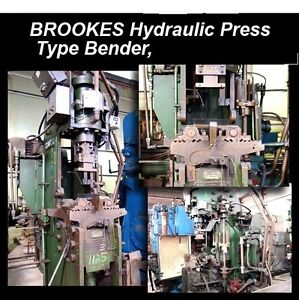 Brookes 21491 Hydraulic Press Type Tube Bender