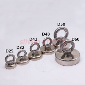 D20 25 32 36 42 48 60 70mm Salvage Strong Neodymium Permanent Magnet Pull Ring