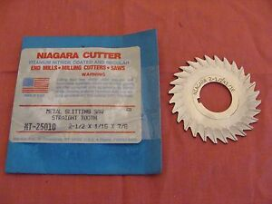 Nos Niagara Cutter Slitting Saw Side Chip Removal 2 X 1 16 X7 8 Cobalt Mt25010