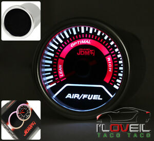 2 52mm 20 Led Needle Turbo Air Fuel Ratio Gauge Meter Black Universal Fitment