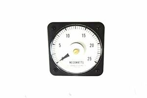 General Electric 6485k81184 Voltmeter Type Db 40 0 25 Megawatts