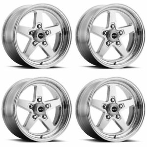 Set 4 15 Vision 571 Sport Star Ii Polished Rims 15x10 5x4 75 Chevy Buick 5 Lug