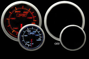 Oil Temperature Gauge Prosport Performance Series Amber And White 52mm New