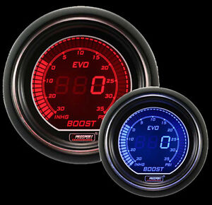 Prosport Digital Boost Gauge Evo Series Red Blue 52mm