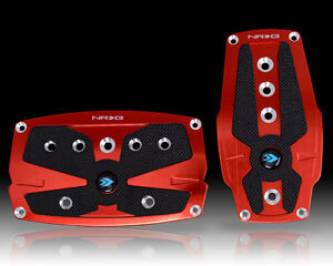Nrg Automatic Transmission Pedal Set Red Universal